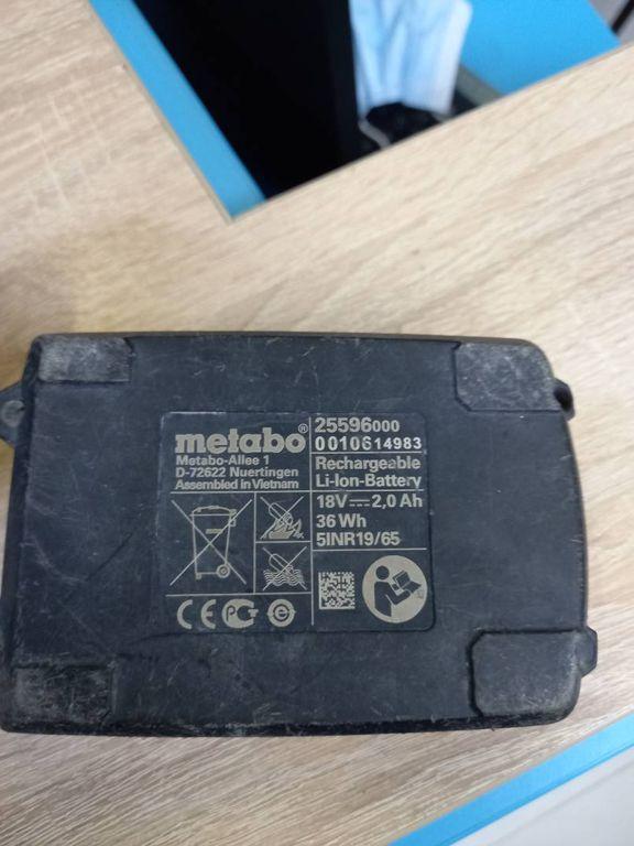 Metabo bs 18 2акб. li-ion/ 2ah